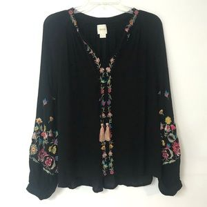 Maeve by Anthropology | Embroidered Floral Top